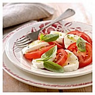 Mozzarella, Tomaat En Basilicumsalade