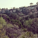 View of Hollywood Hills homes from Bronson Canyon