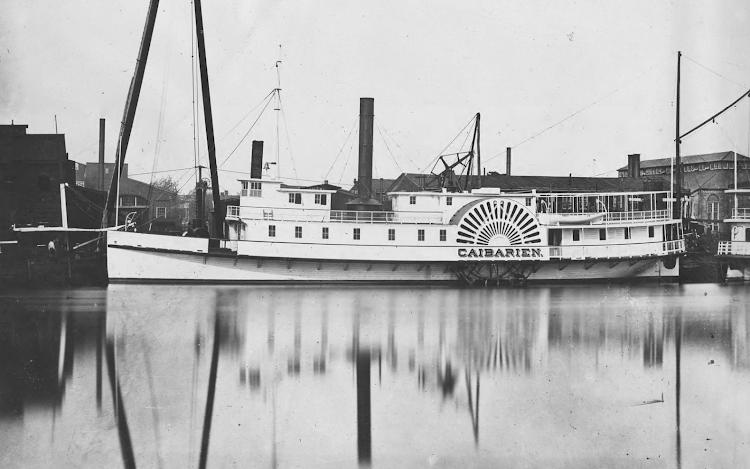 Astilleros de Pusey & Jones. 1878. Acabados en la construcción del CAIBARIEN. Hugley Digital Archives. Pusey & Jones Corp. Photograph.png