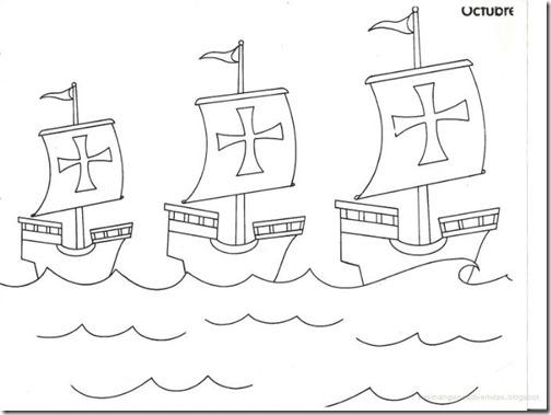 Colorear Cristóbal Colón Y Descubrimiento De América