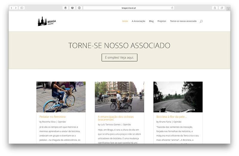 Novo site Braga Ciclável - www.bragaciclavel.pt