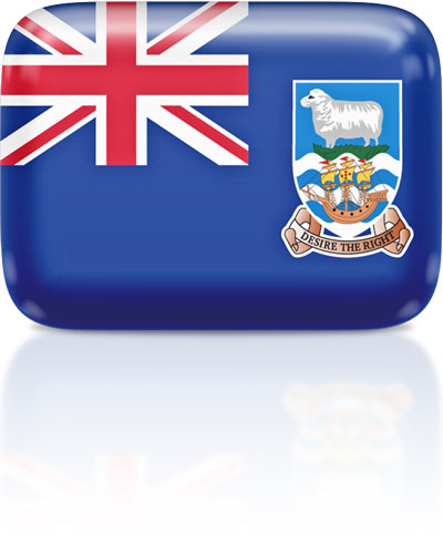 Falkland Island  flag clipart rectangular
