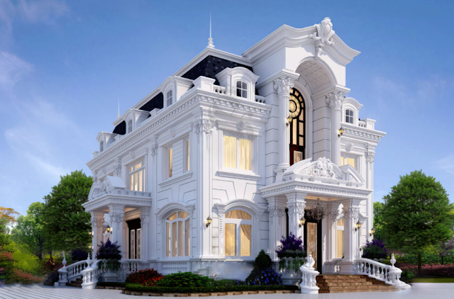 Thiết kế biệt thự cổ điển 2 tầng đẹp nổi bật tại Thanh Hóa