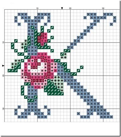 abc punto cruz letras con rosas  (10)