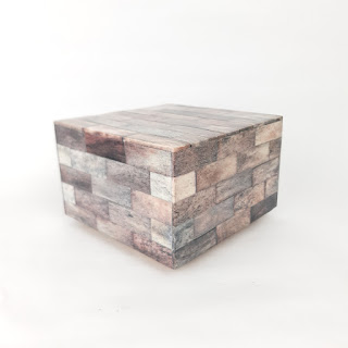 Tessellated Bone Brown Wood Box