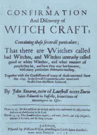 Cover of John Stearne's Book A Confirmation and Discovery of Witchcraft