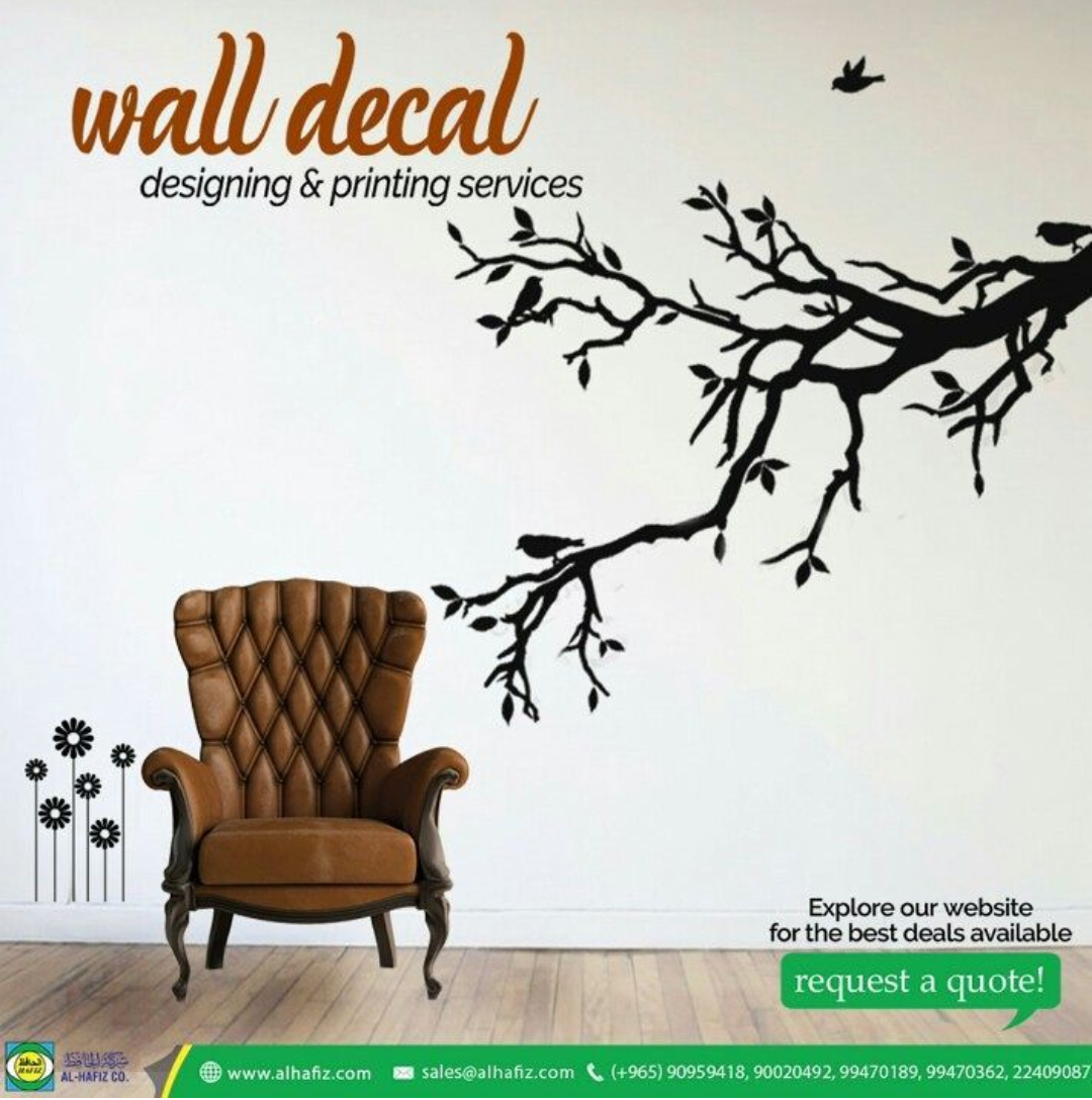 ladies who do lunch in kuwait wall decals at al hafiz printing company