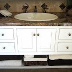Rainforest Brown Marble Vanity with Ivory Classic Travertine.JPG