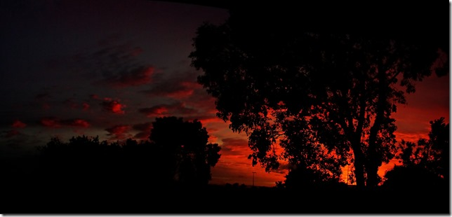 sunrise pano  created in autostitch