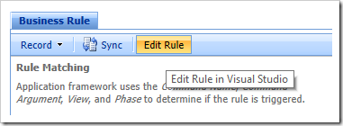 Editing the rule in Visual Studio.
