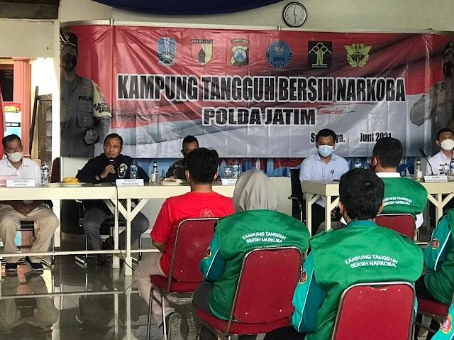 Ditresnarkoba Polda Jatim Resmikan Kampung Tangguh Bebas Narkoba di Sidoarjo