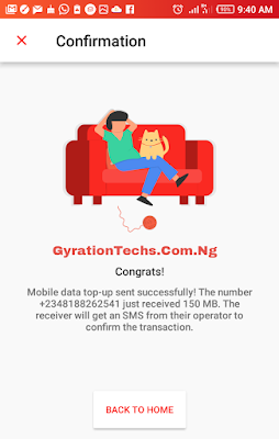 Download DENT Application to get free data on all networks