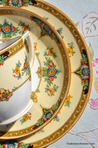Fine Hand Painted Vintage Mintons China Trio