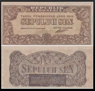 gambar uang kuno 10 sen