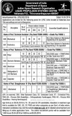 LPSC Thiruvananthapuram Recruitment 2016