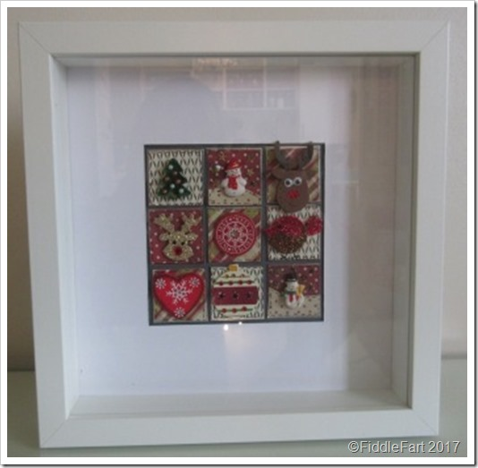 2 CHristmas Patchwork Box Frame a