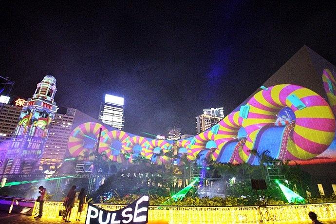 21 香港 閃躍維港 3D光雕匯演