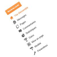 Un menu administrateurs / auteurs de blog