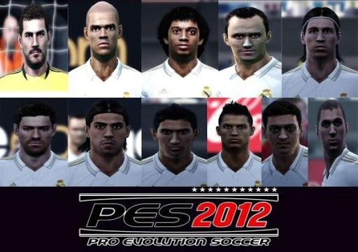 big Demo PES 2012: Faces dos jogadores do Real Madrid