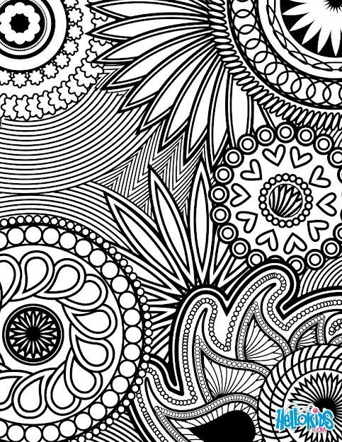 Flowers  Paisley Design Paisley Hearts And Flowers Antistress Coloring  Design Coloring Page