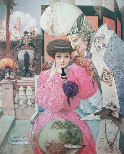 Gustave Adolphe Mossa - David und Bathsheba