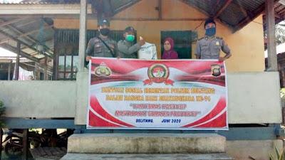 Sambut Hari Bhayangkara, Polsek Belitang Salurkan Bantuan Baksos Polri Peduli COVID-19