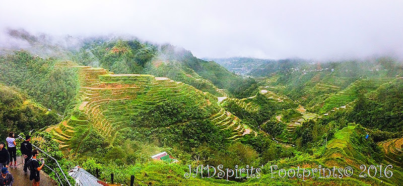 A view of the Banaue Rice Terraces from the main viewpoint