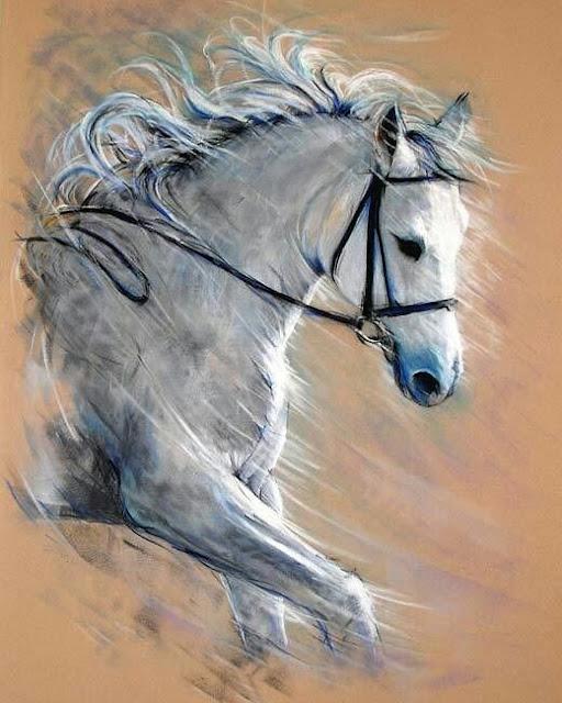 لوحات خيول اكثر من راۓعه