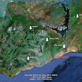 Sites prospectés au Ghana (2006 - 2009)