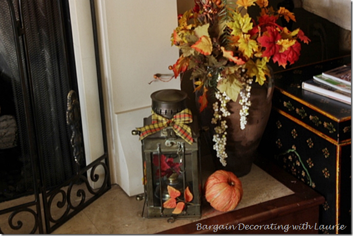 Thanksgiving Decor on the Hearth