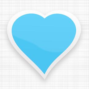 Corazón de color azul cielo