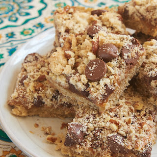 Caramel Chocolate Chip Oat Bars.