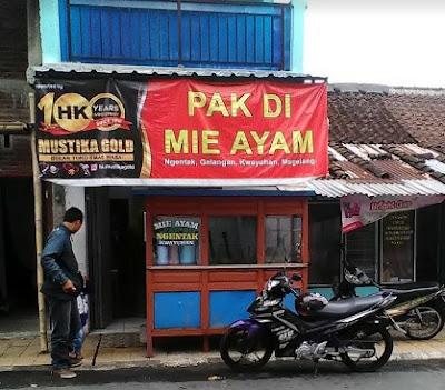 Mie Ayam Pak Di Ngentak, Salah satu Mie Ayam enak di Magelang