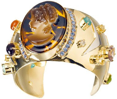 Marc by Marc Jacobs Gold Plated Brass Cameo Bracelet