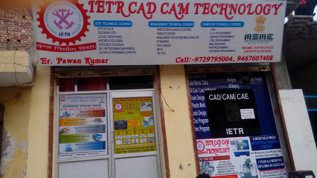 IETR CAD CAM TECHNOLOGY - Industrial Technical Education in