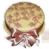 15. kép: Karácsonyi torták - Bézs masnis leveles torta