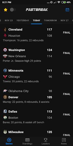 Fastbreak: Live NBA Score and Stats 1.3.2 screenshots 1