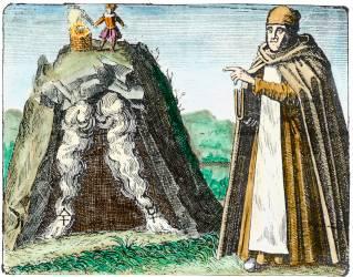 Thomas Aquinas From Maier Symbola Aurea Mensae 1617, Alchemical And Hermetic Emblems 2