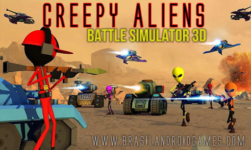 Creepy Aliens Battle Simulator 3D Imagem do Jogo