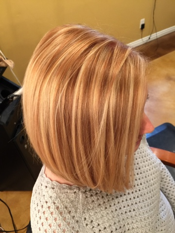 Hairtwist Blonde Highlights On Natural Copper Hair