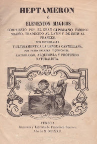 Cover of Peter de Abano's Book Heptameron Or Magical Elements