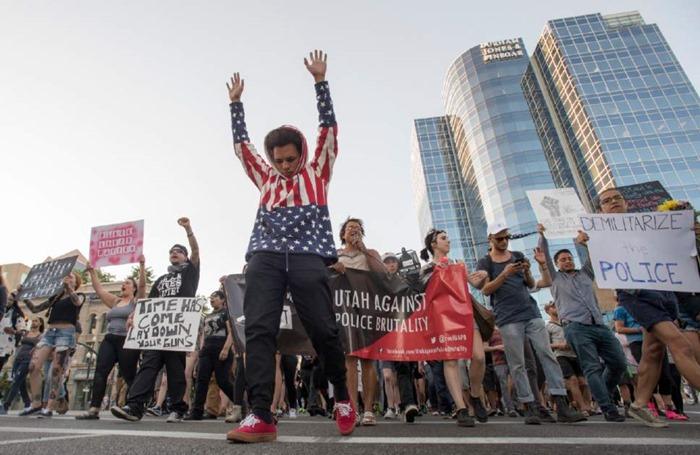 BLM protestors slc