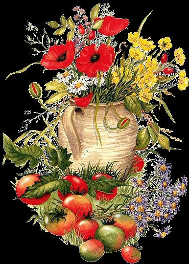 flores - frutas - pintura