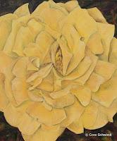 """""""Rose gelb"""", Öl auf Leinwand, 71x85, 2002"""