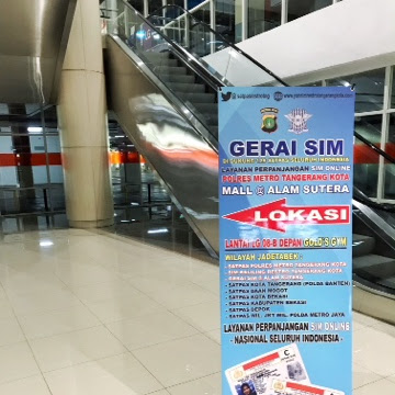 Perpanjang SIM di Mall Alam Sutera