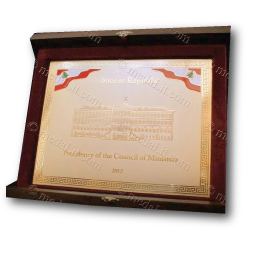 Gold-plated Brass Plaque award