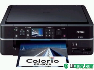 How to Reset Epson EP-801A inkjet printer – Reset flashing lights error