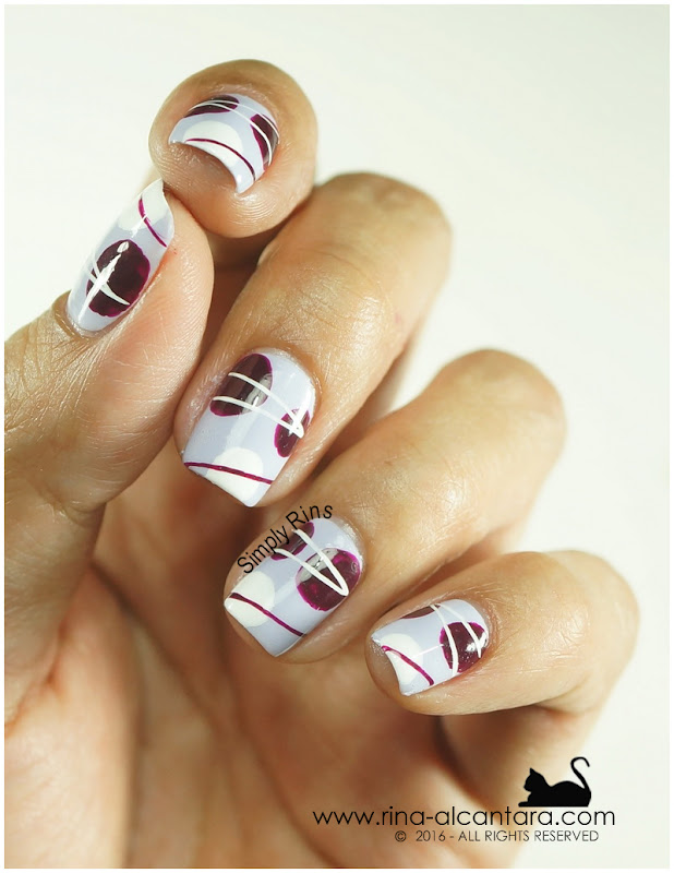 For the Love of Abstract Nail Art Design