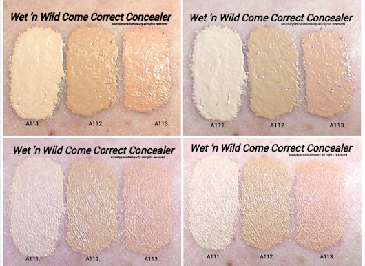 Wet 'n Wild Come Correct Concealer; Review & Swatches of Shades