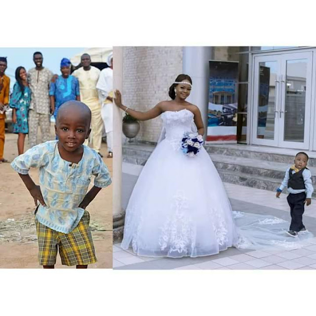 The Photobombers turned Models! 3-Year-Old Tobi joins Olajumoke in Wedding-Themed Photoshoot